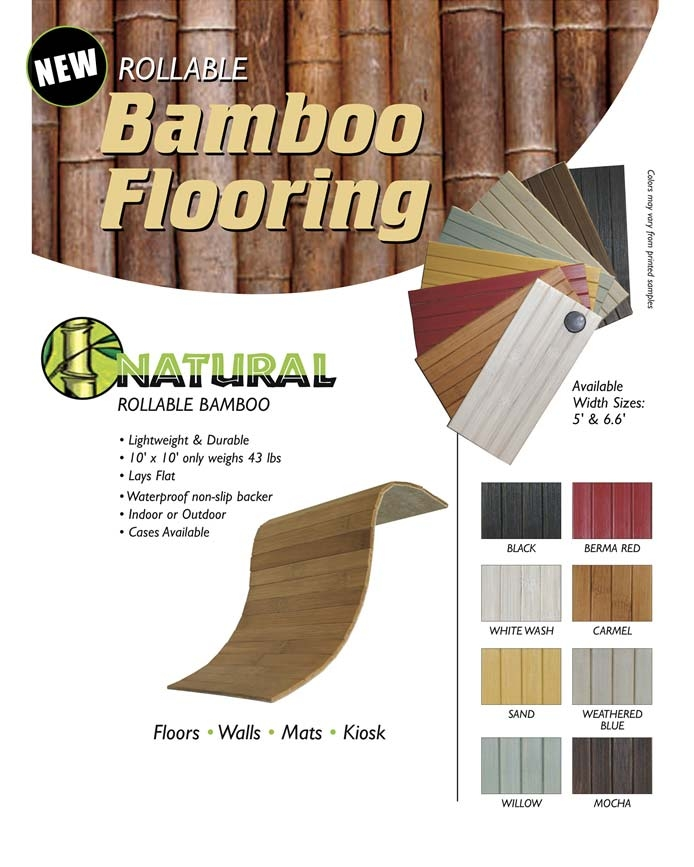 Rollable Bamboo Flooring