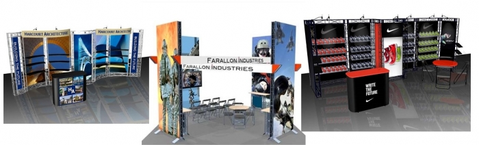 Trade Show display rentals collage