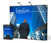 9' Iconic Displays Classic Straight Wall Pop Up Displays