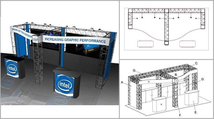 10x20 Turnkey Trade Show Booth Rental | JADE