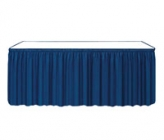 Unprinted Shirred Pleat Twill Table Skirting