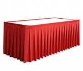 Unprinted Accordion Pleat Twill Table Skirting