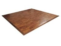 Hardwood Booth Flooring - Interlocking