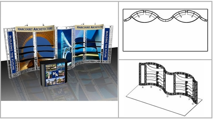 10x20 Turnkey Trade Show Booth Rental | PACIFICA