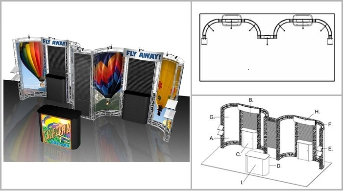 10x20 Turnkey Trade Show Booth Rental | SONOMA