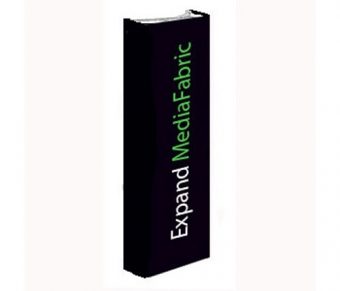 "30"" MediaFabric Straight Wall Pop Up Tower Displays"