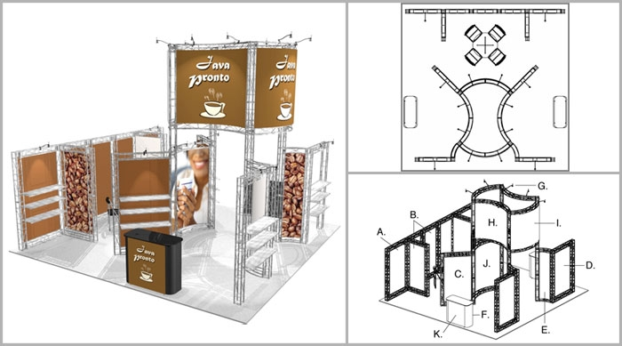 20x20 Turnkey Trade Show Booth Rental | BIG SUR