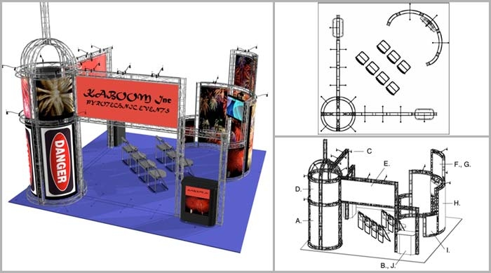 20x20 Turnkey Trade Show Booth Rental | CHINATOWN