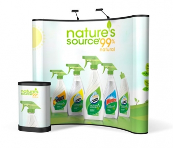 8' Iconic Classic Pop Up Display – Package D