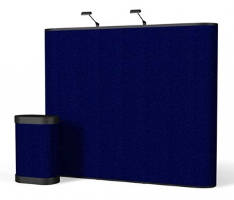 9' Iconic Classic Straight Wall Pop Up Display – Package A