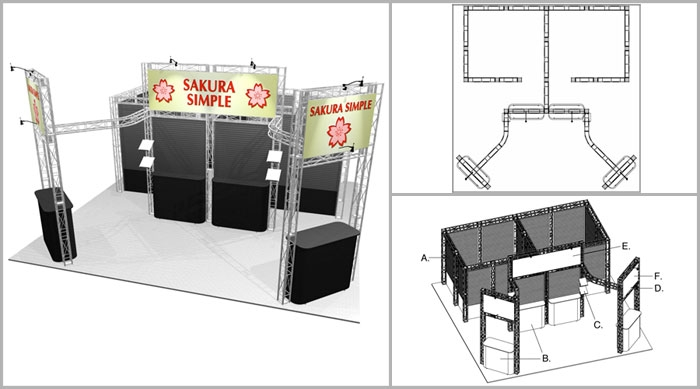 20x20 Turnkey Trade Show Booth Rental | PIEDMONT