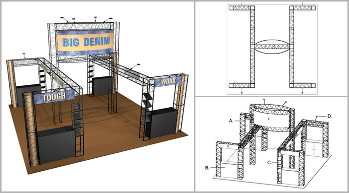 20x20 Turnkey Trade Show Booth Rental | RUBY