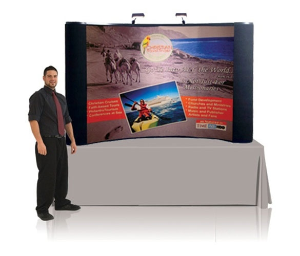 8' Iconic Budget Table Top Pop Up Display – Package C