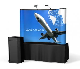 8' Iconic Classic Table Top Pop Up Display