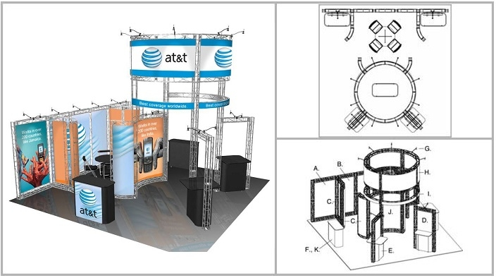 20x20 Turnkey Trade Show Booth Rental | SIERRA