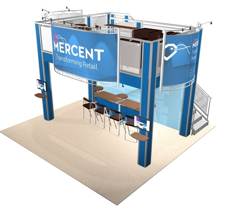 Double Deck Turnkey Booth Rental | 20x20 SF HI-RISE