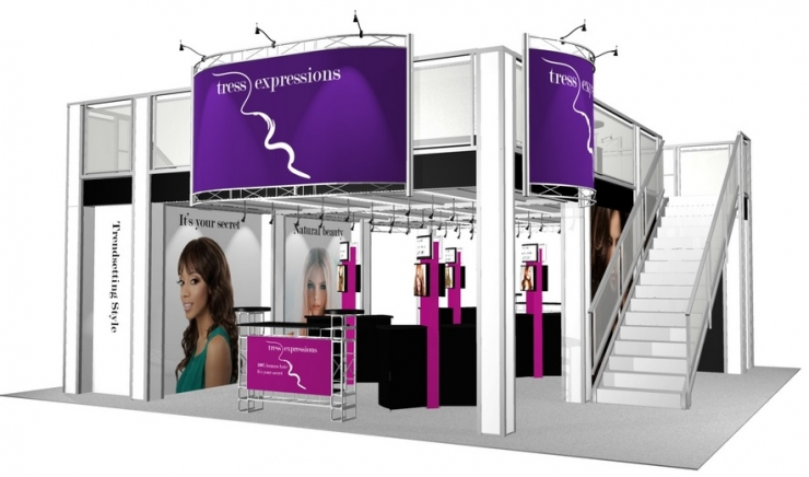 Double Deck Turnkey Booth Rental | 30' x 30' MANHATTAN HI-RISE