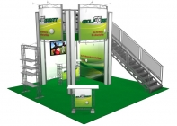 Double Deck Turnkey Display Rental | 20' x 20' ORLANDO HI-RISE