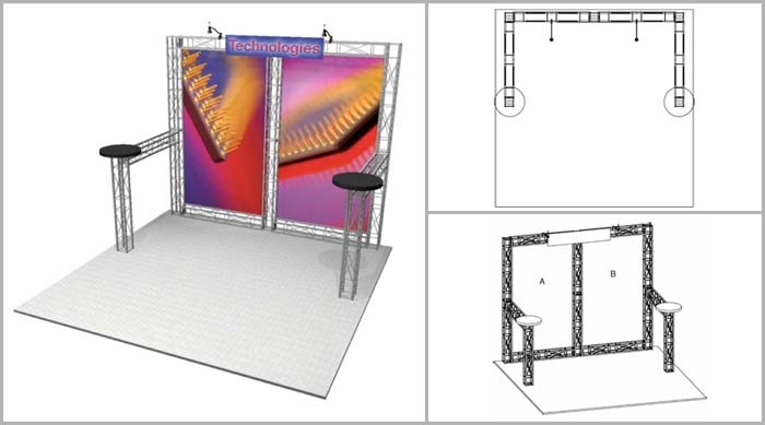 Truss Booth | Hercules 10' Trade Show Booth