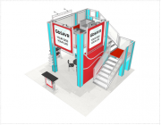 Double Deck Turnkey Booth Rental | 20' x 20' DALLAS HI-RISE