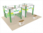 Double Deck Turnkey Booth Rental | 30' x 40' SAN JOSE HI-RISE