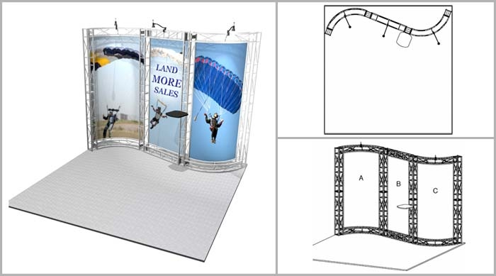Truss Booth | Sausalito 10' Trade Show Display