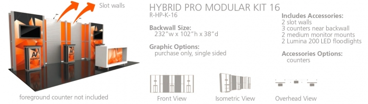 20' Hybrid Pro Modular Display Rental - Kit 16