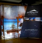10' iconic Budget II Curved BACKLIT Fabric Popup Display