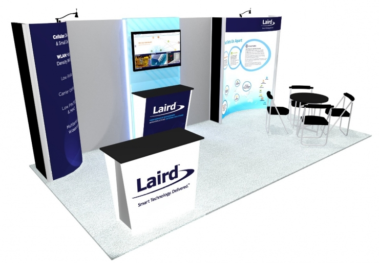 10x20 Turnkey Trade Show Booth Rental Del Mar
