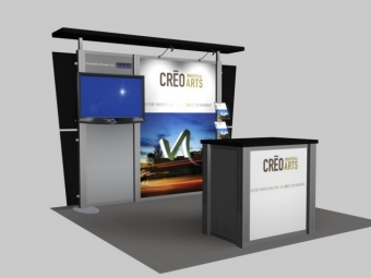 10' Iconic Platinum Video Modular Booth ICDRE1012