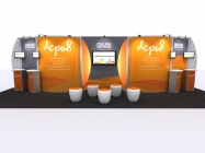 20' Iconic Platiunum video Modular depo8 booth ICDVK3003