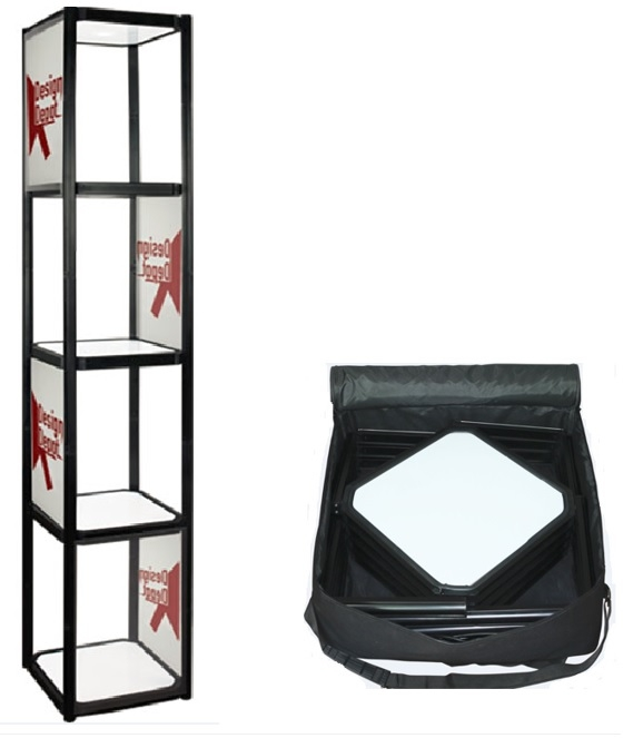 Iconic Portable 4 shelf Display Case