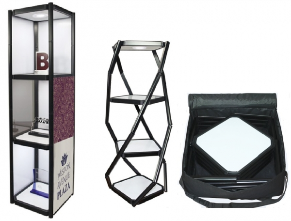 Iconic Portable 3 shelf Display Case