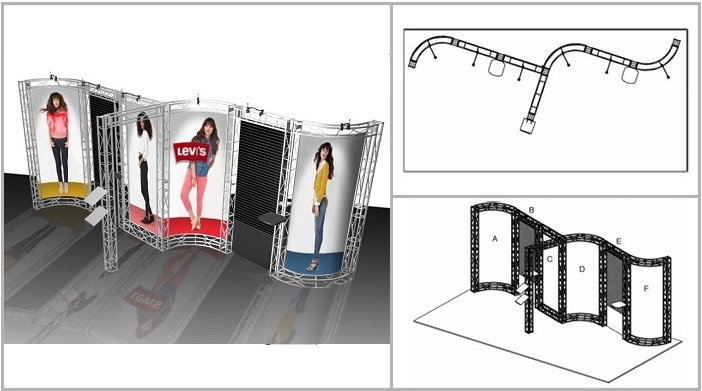 Trade Show Truss | Napa 20' Truss Booth