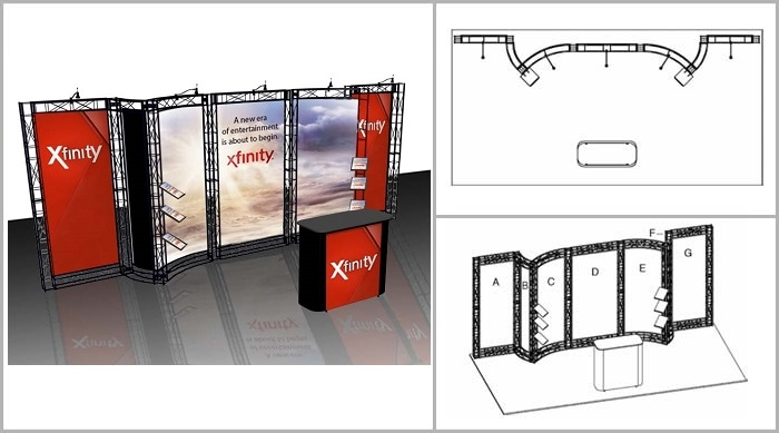 Trade Show Truss | Potrero 20' Truss Booth