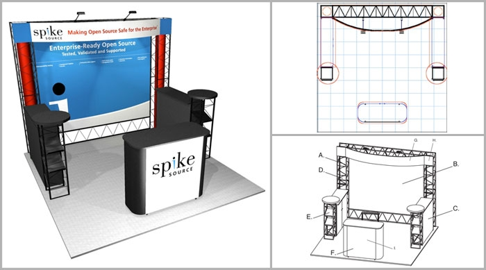 10x10 Turnkey Trade Show Booth Rental | OPAL