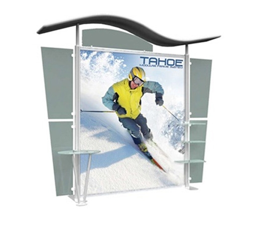 10' Iconic Budget Modular Display - Wave Canopy - Package A