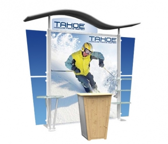 10' Iconic Budget Modular Display - Wave Canopy - Package C