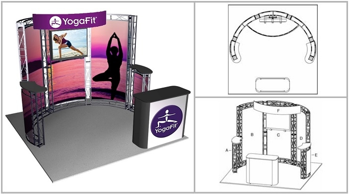 10' x 10' Turnkey Rental Display - TAHOE