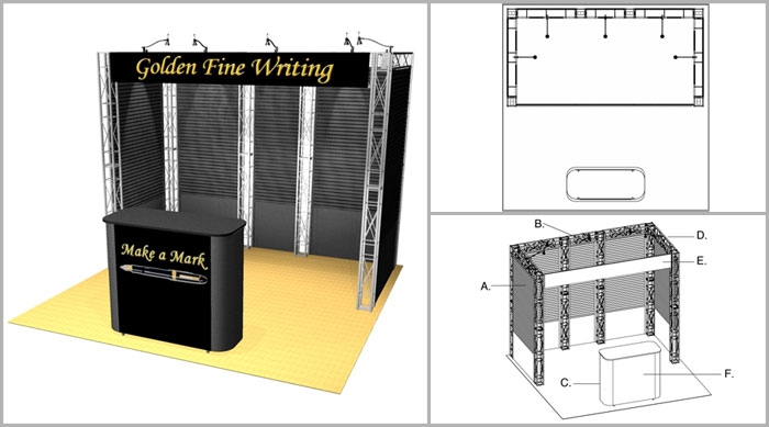10x10 Turnkey Trade Show Booth Rental | TIBURON