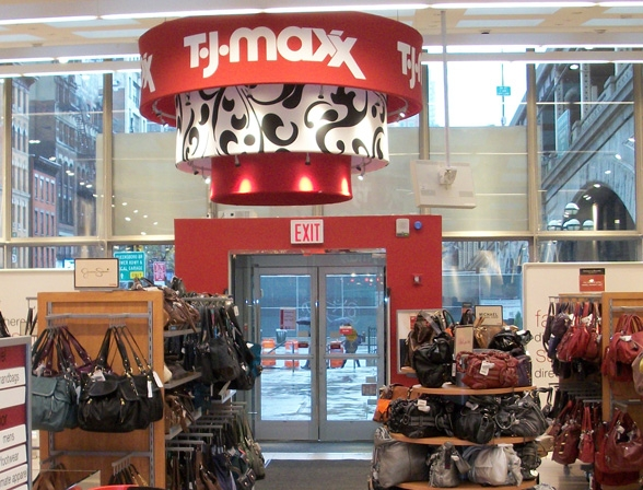 TJ Maxx retail overhead sign