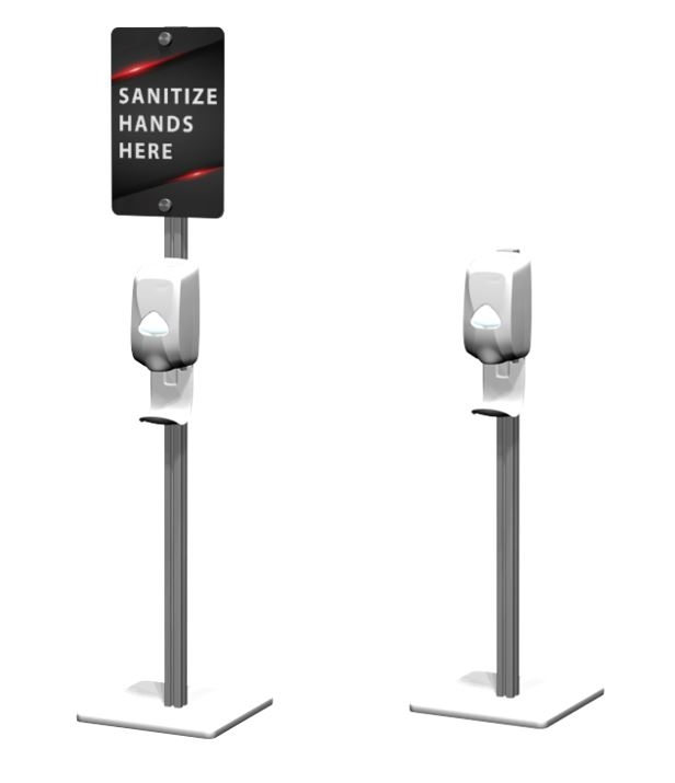 hand sanitizer stations free standing