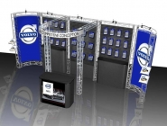 10X20 Turnkey Trade Show Display Rental | MARIN