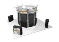20x20 Turnkey Trade Show Booth Rental | ALCATRAZ