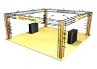 20x20 Turnkey Trade Show Booth Rental | CRYSTAL