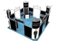 20x20 Turnkey Trade Show Booth Rental | EUREKA