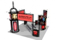 Trade Show Truss | Chinatown 20x20 Truss Booth