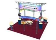 Trade Show Truss | Palisades 20x20 Truss Booth
