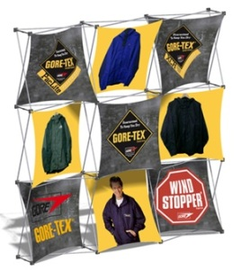 Xpressions pop up fabric display - 3x3 size