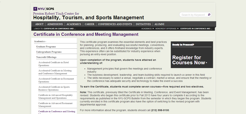 Top 30 event management degree programs iconicdisplays nyu xflitez Choice Image